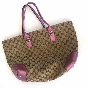 Gucci Canvas Monogram Heart Bit Shoulder Bag